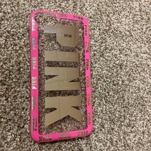 Victoria's Secret pink phone case